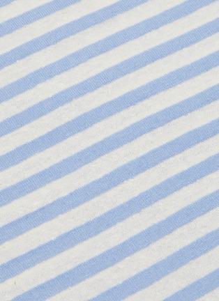 - VINCE - Silk blend stripe T-shirt