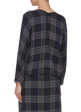 Back View - Click To Enlarge - VINCE - Crossover check plaid blouse