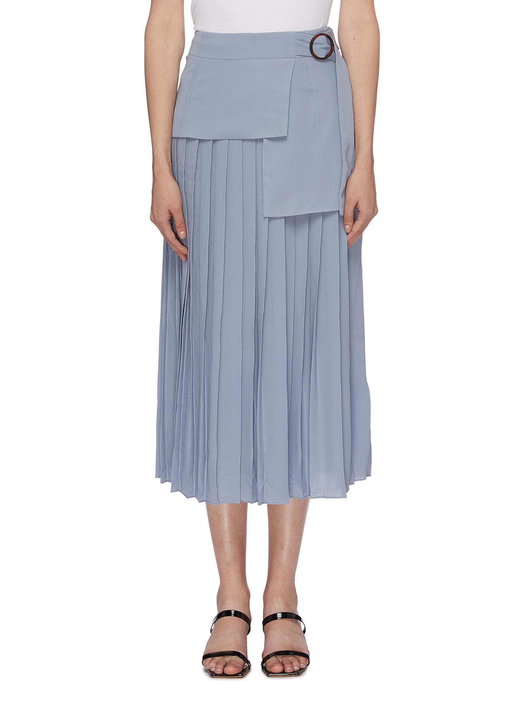 Belted layered pleated skirt by Victoria, Victoria Beckham