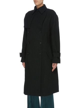 Detail View - Click To Enlarge - MS MIN - Belted double breasted coat