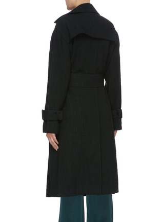 Back View - Click To Enlarge - MS MIN - Belted double breasted coat