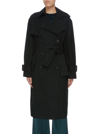 Main View - Click To Enlarge - MS MIN - Belted double breasted coat
