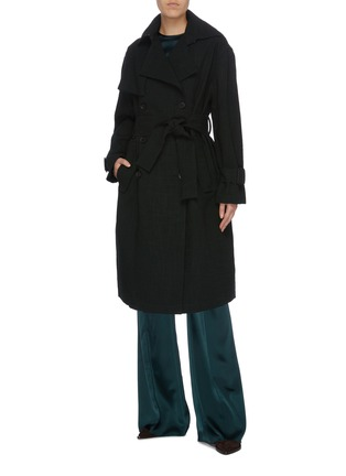 Figure View - Click To Enlarge - MS MIN - Belted double breasted coat