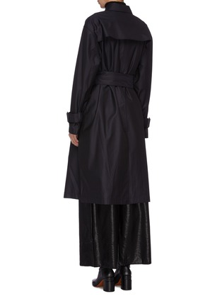 Back View - Click To Enlarge - MS MIN - Belted wool-silk gabardine trench coat
