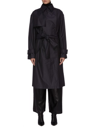 Main View - Click To Enlarge - MS MIN - Belted wool-silk gabardine trench coat