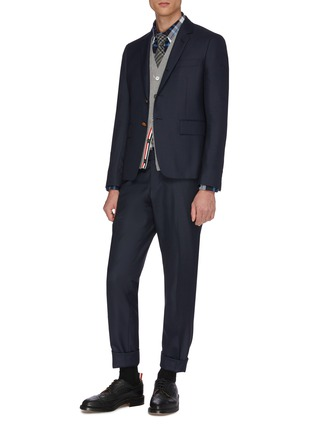 Figure View - Click To Enlarge - THOM BROWNE - Wool pants