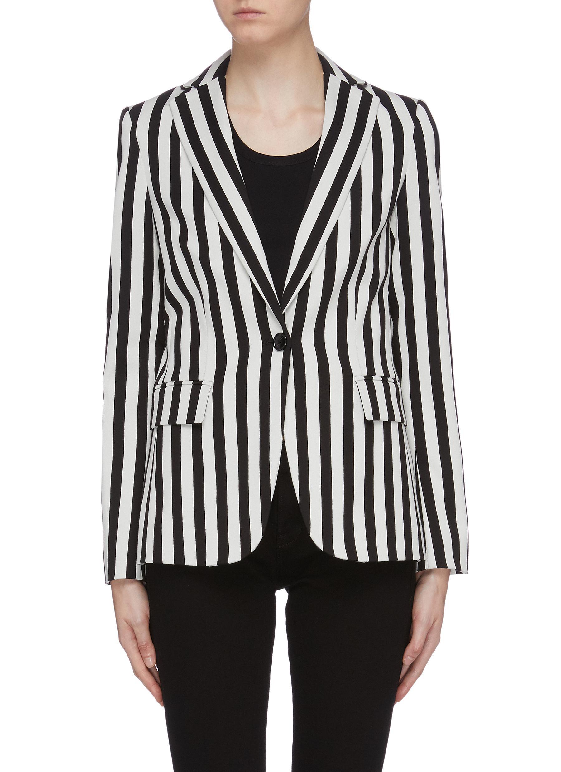 Classic stripe oversized blazer by Frame Denim
