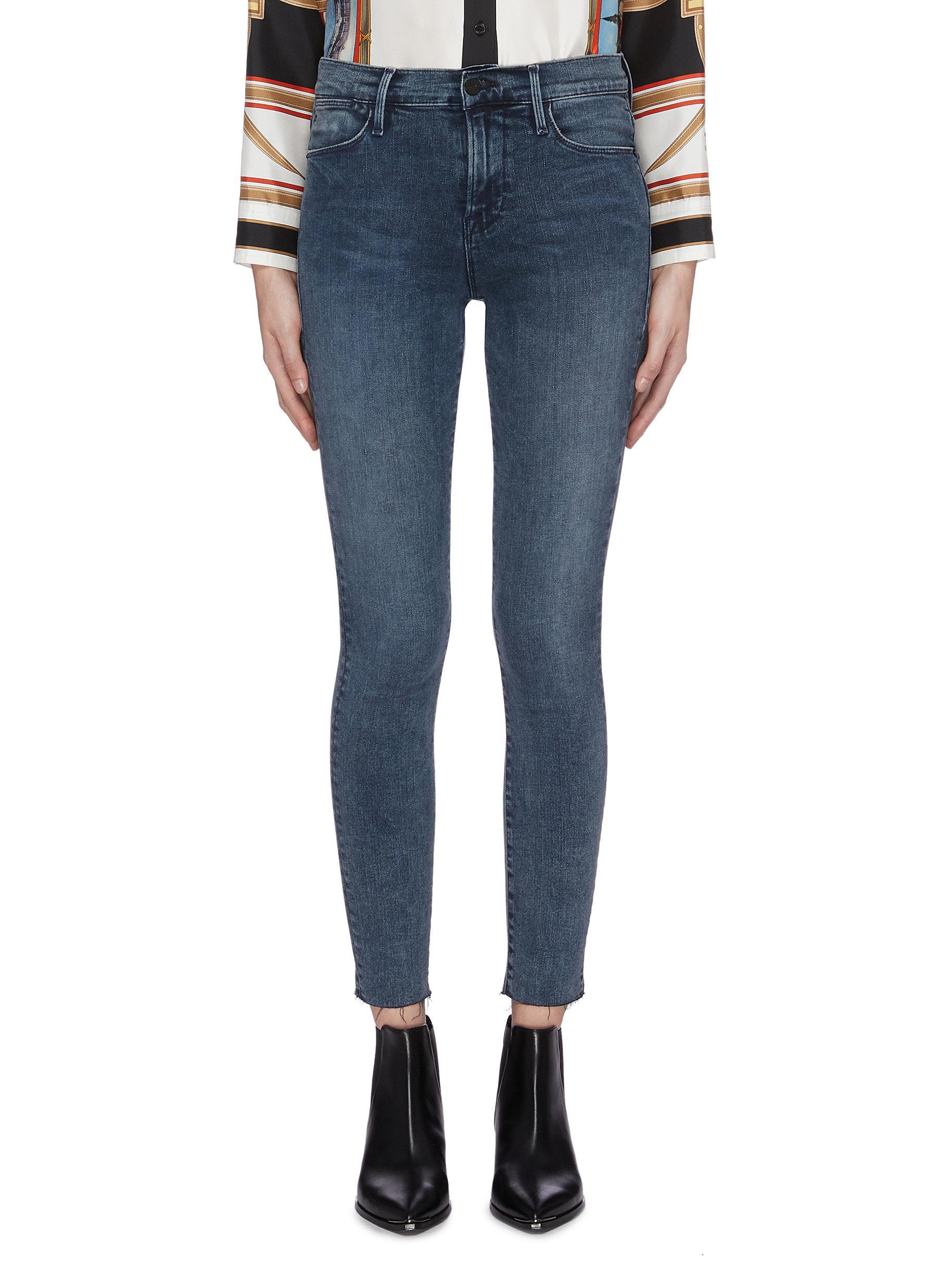 Le High Skinny raw cuff jeans by Frame Denim