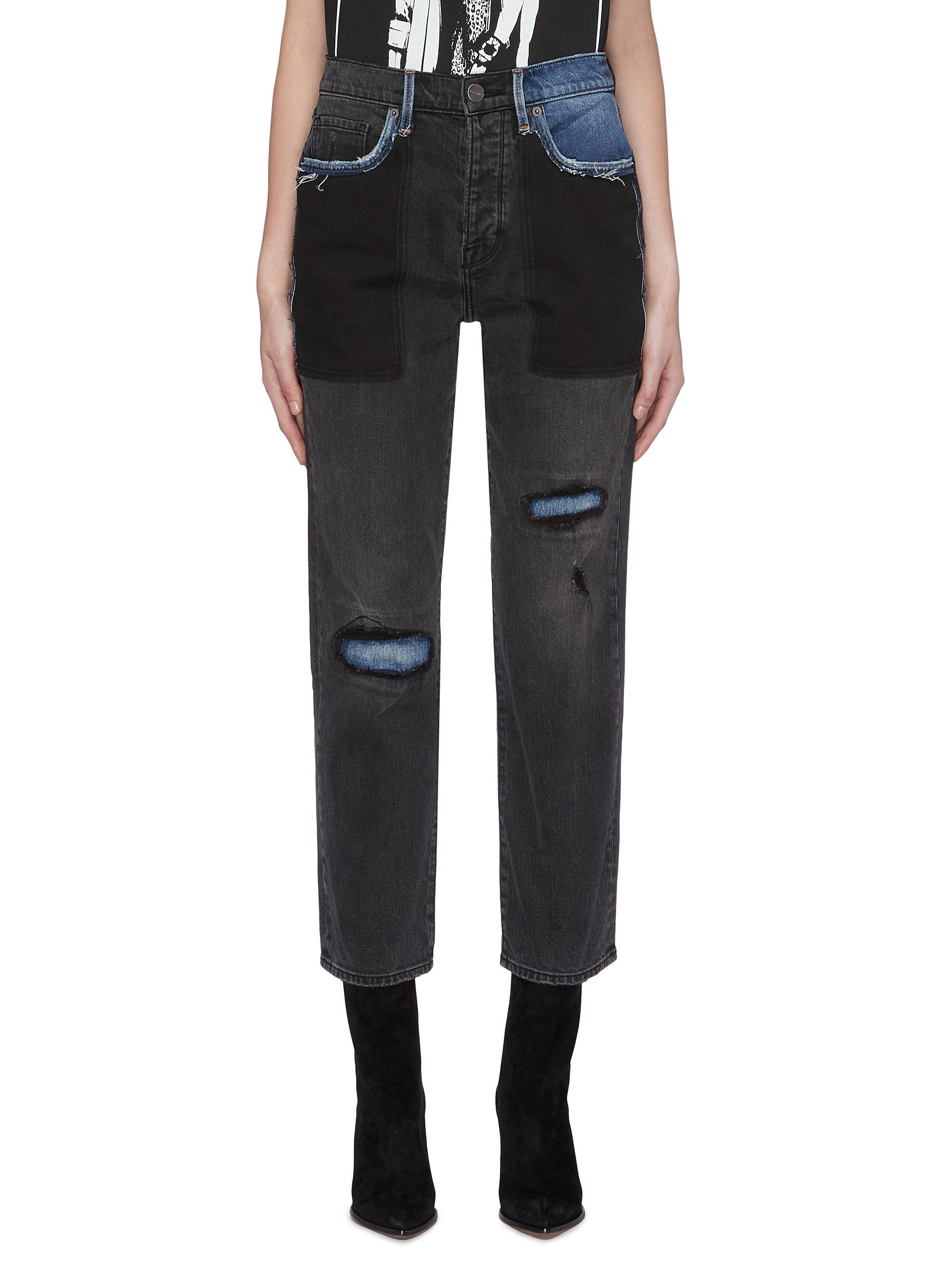 Le Original patchwork jeans by Frame Denim