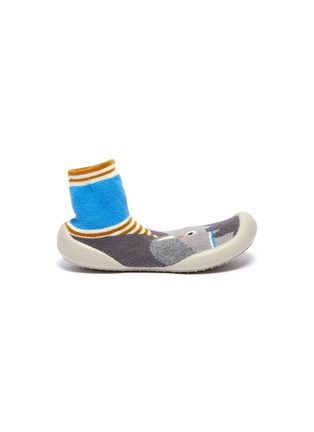 Main View - Click To Enlarge - COLLÉGIEN - Elephant intarsia toddler sock knit sneakers
