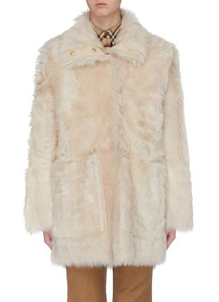 Main View - Click To Enlarge - YVES SALOMON - Reversible lambskin shearling coat
