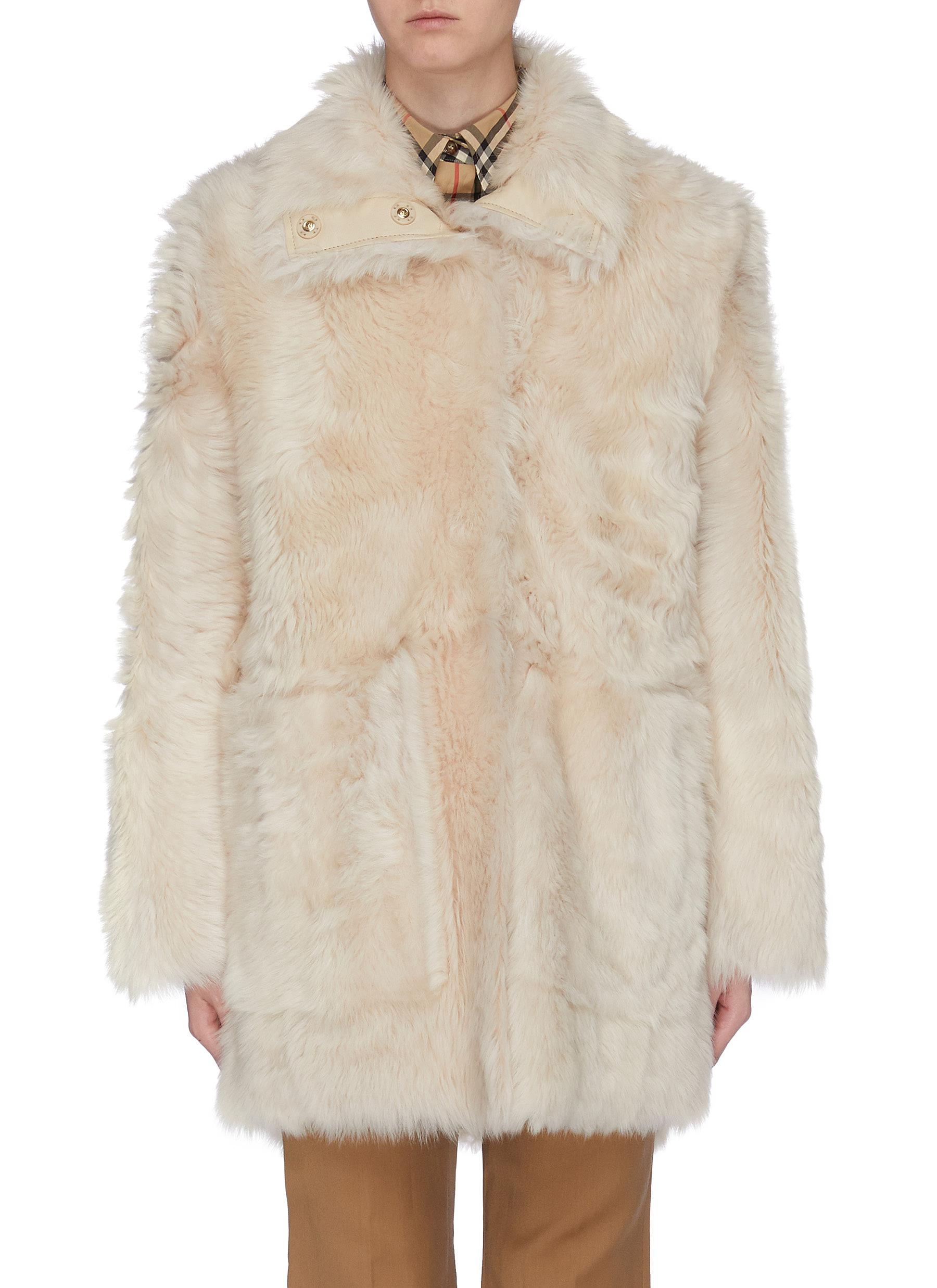 Reversible lambskin shearling coat by Yves Salomon