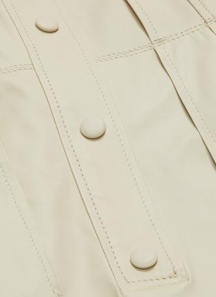 - YVES SALOMON - Belted lambskin leather dress