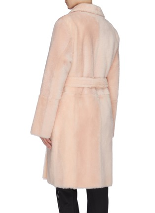 Back View - Click To Enlarge - YVES SALOMON - Reversible lambskin shearling coat
