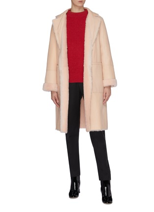 Figure View - Click To Enlarge - YVES SALOMON - Reversible lambskin shearling coat