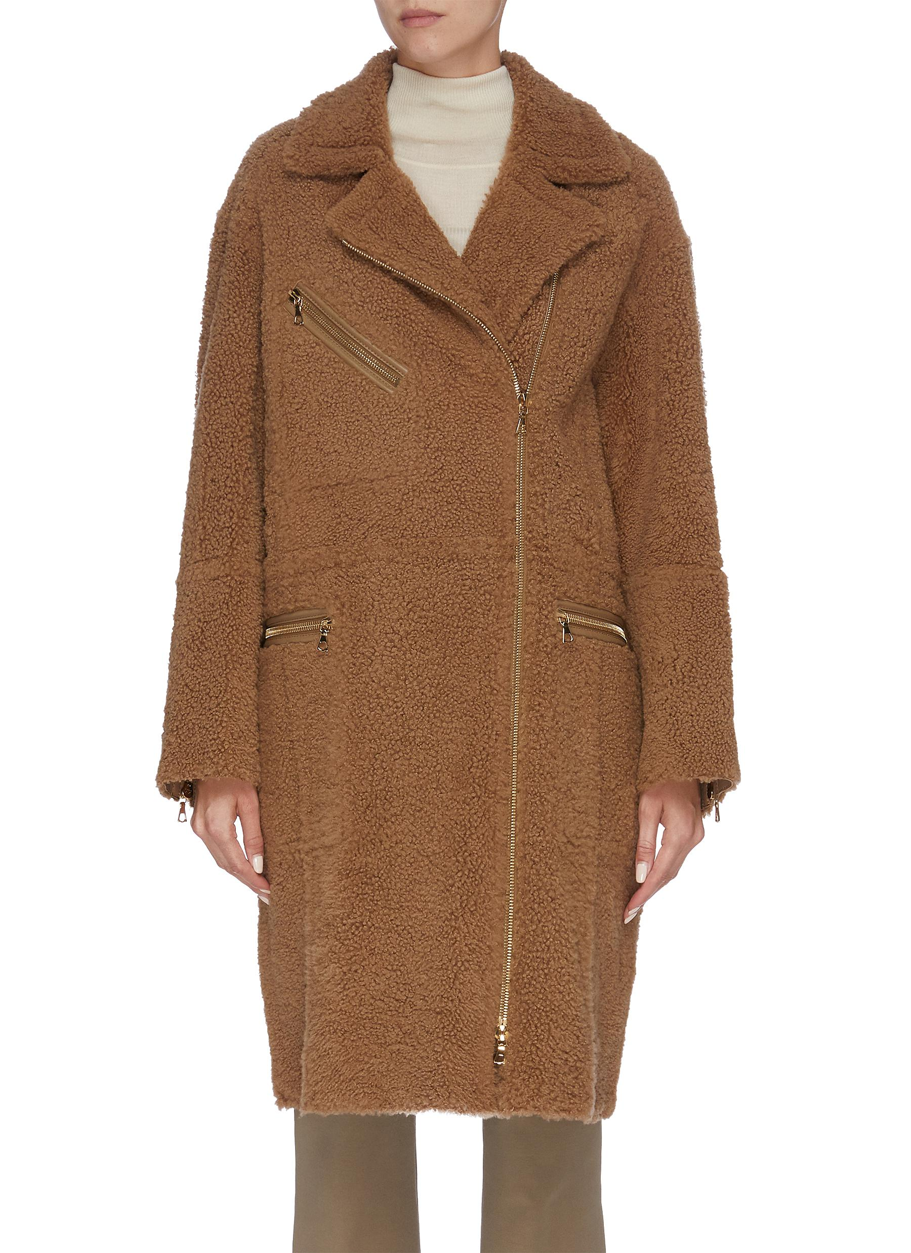 Merinillo double breasted lambskin shearling coat by Yves Salomon