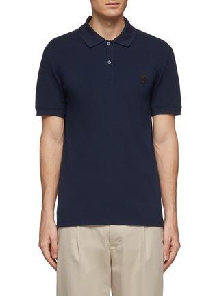 Main View - Click To Enlarge - ALEXANDER MCQUEEN - Skull patch polo shirt
