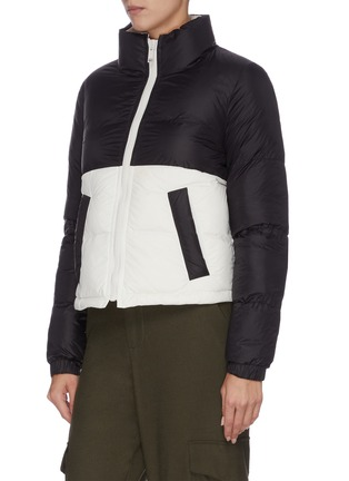 Detail View - Click To Enlarge - ARMY BY YVES SALOMON - 'Bachette' reversible quilted hooded jacket