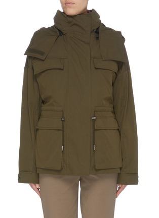 Main View - Click To Enlarge - ARMY BY YVES SALOMON - 'Bachette' reversible metallic panelled padded jacket