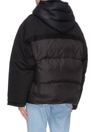 Back View - Click To Enlarge - ARMY BY YVES SALOMON - 'Bachette Merinillo' lambskin shearling puffer jacket