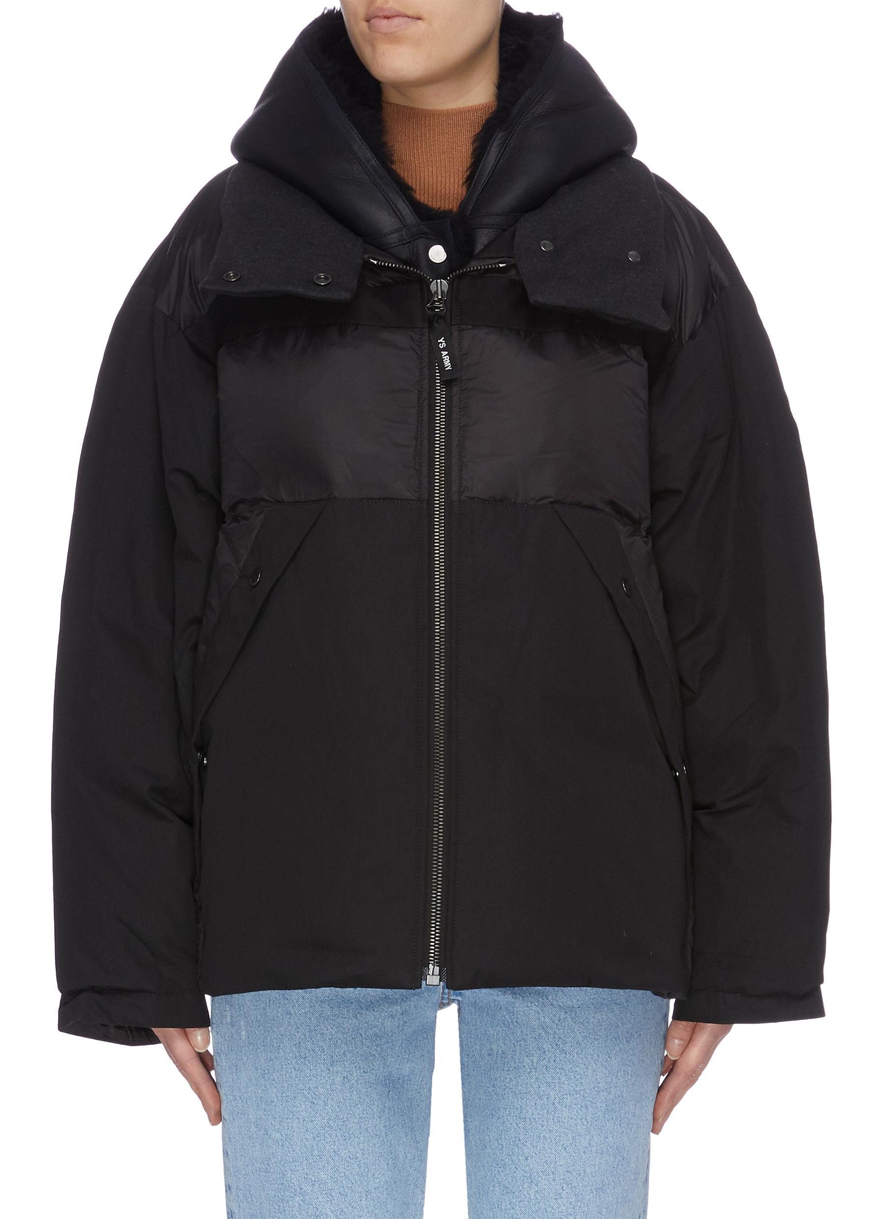 Bachette Merinillo lambskin shearling puffer jacket by Army By Yves Salomon