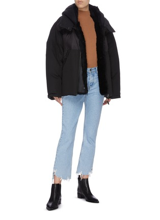 Figure View - Click To Enlarge - ARMY BY YVES SALOMON - 'Bachette Merinillo' lambskin shearling puffer jacket
