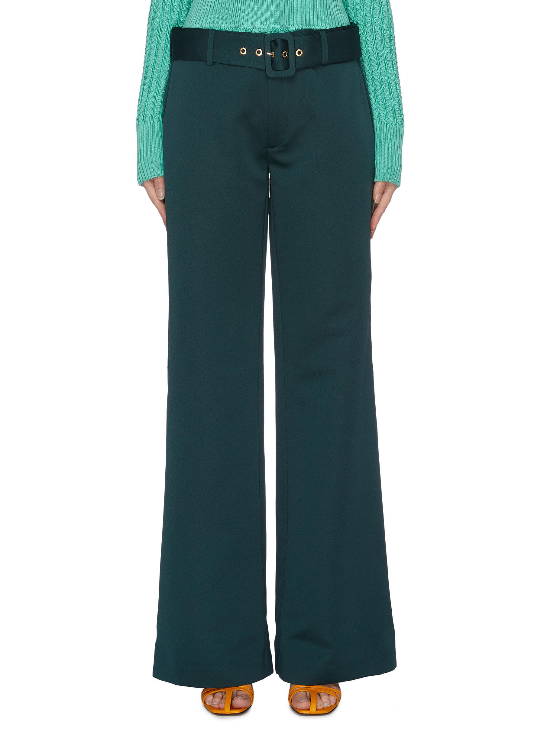 Nothing Stopping Me belted wide leg pants by Maggie Marilyn