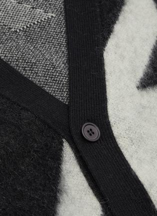 - ALEXANDER MCQUEEN - Geometric jacquard houndstooth cardigan