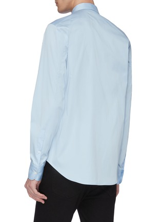 Back View - Click To Enlarge - ALEXANDER MCQUEEN - Rose embroidered collar shirt