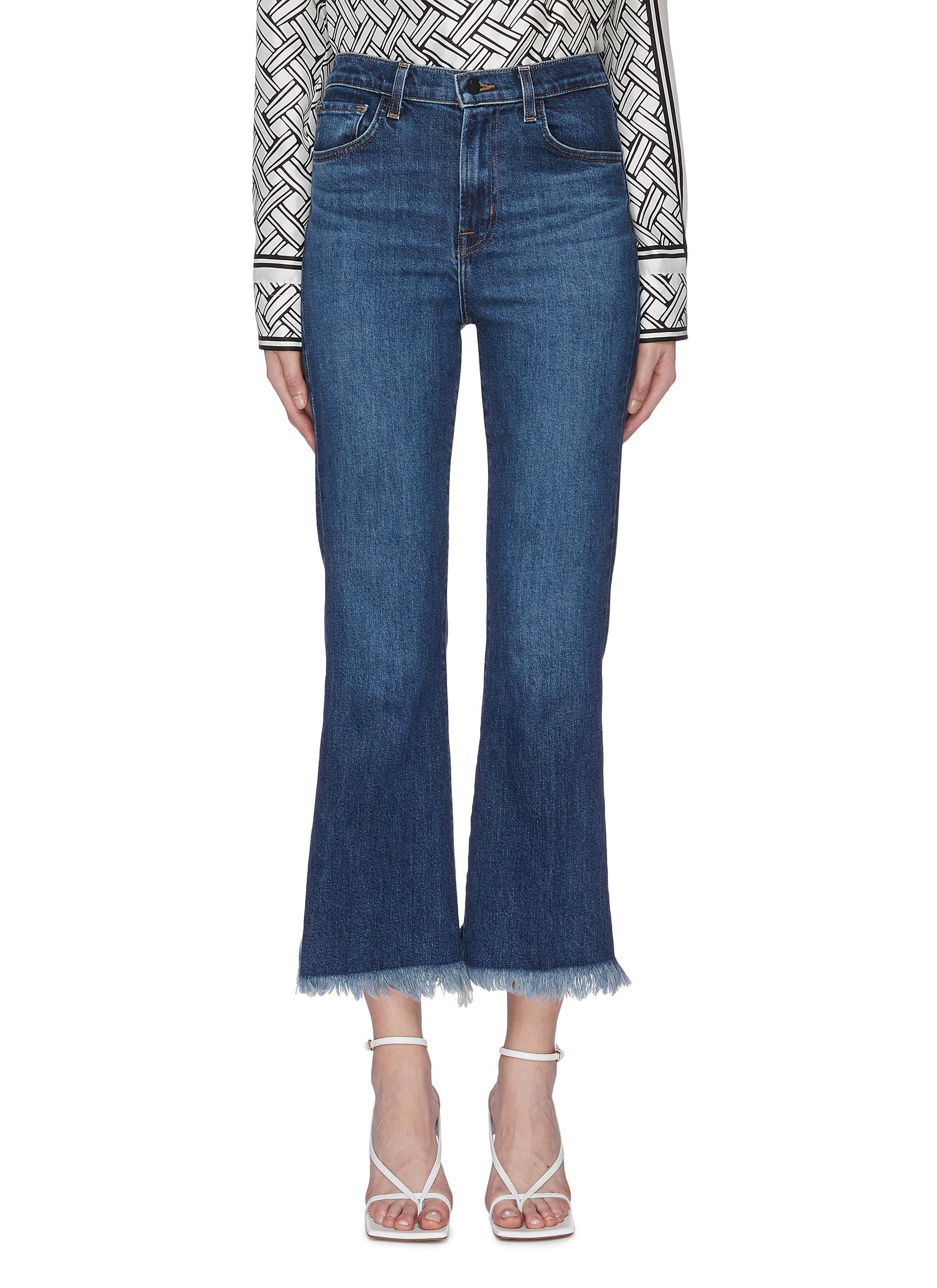 Julia frayed cuff flared jeans by J Brand