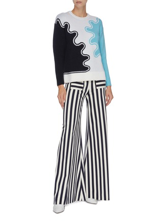 Figure View - Click To Enlarge - PH5 - Wave print colourblock sweater