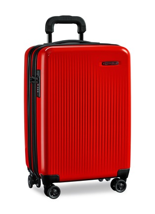 - BRIGGS & RILEY - Sympatico carry-on expandable spinner suitcase – Red