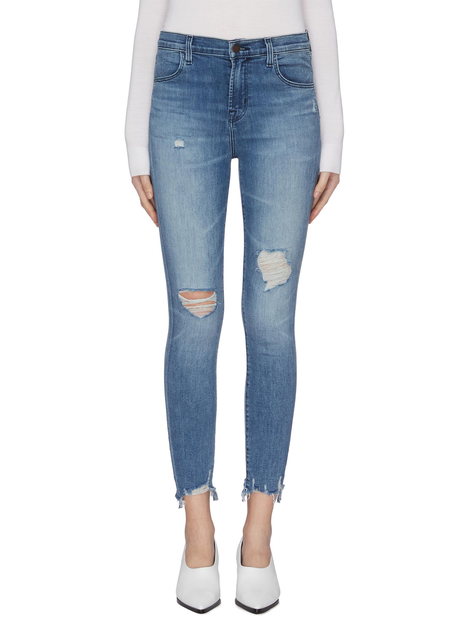 Alana ripped knee skinny jeans by J Brand