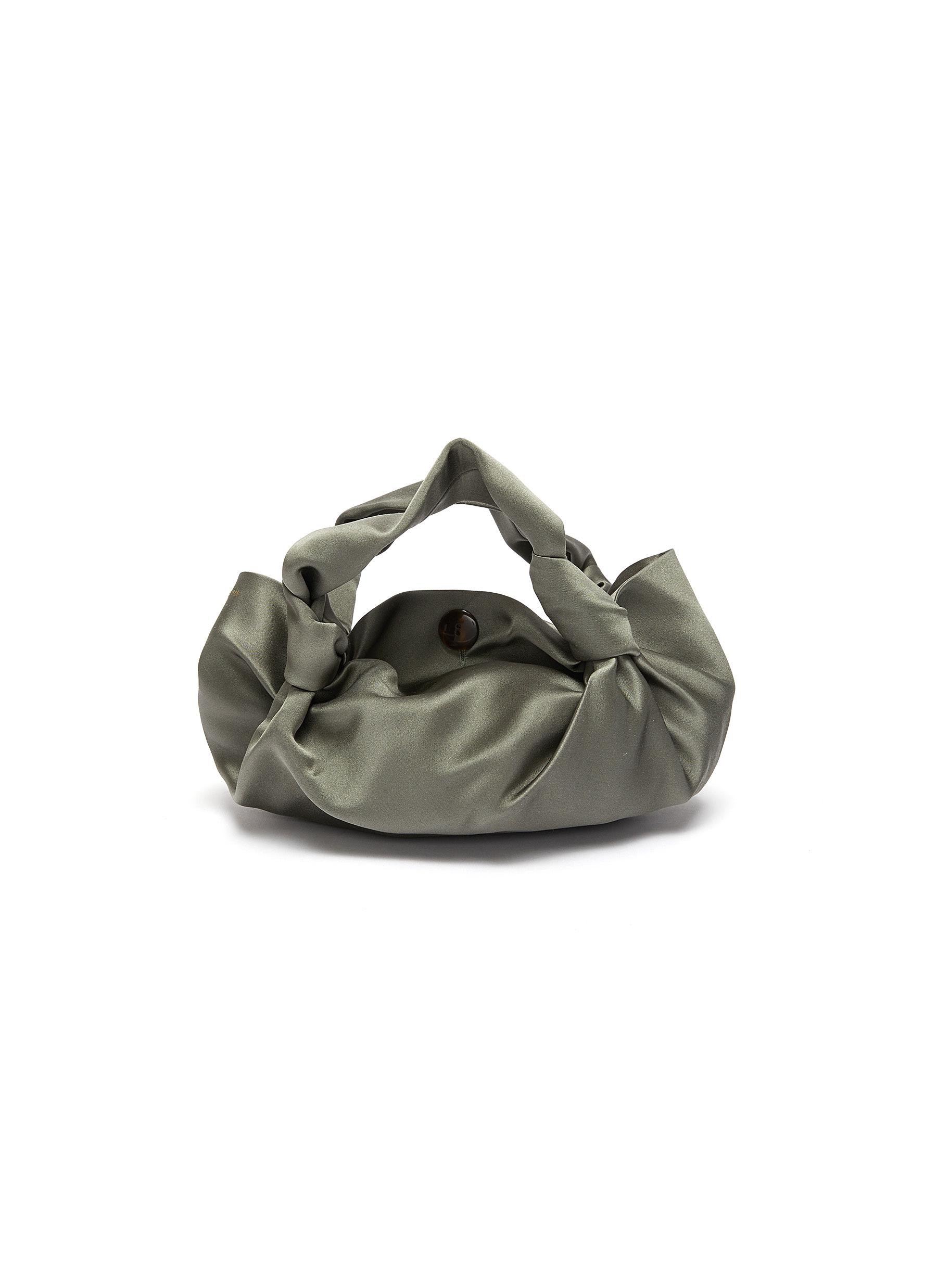 The Row 'Ascot Two' Silk-Satin Bag In Pale Sage