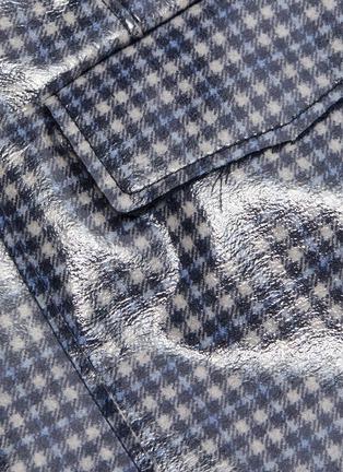 - CÉDRIC CHARLIER - Check plaid print vinyl midi skirt