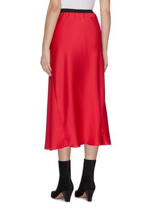 Back View - Click To Enlarge - CHRISTOPHER ESBER - Maxi satin skirt