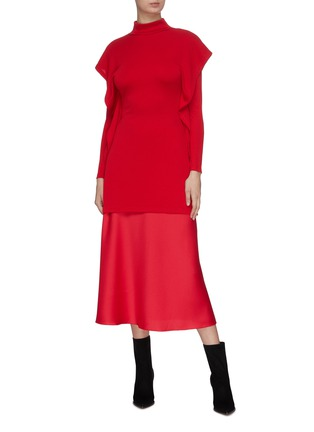 Figure View - Click To Enlarge - CHRISTOPHER ESBER - Maxi satin skirt