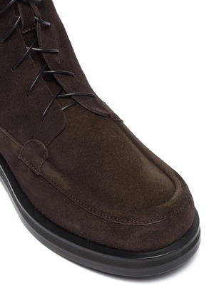 Detail View - Click To Enlarge - THE ROW - 'Patty' suede combat boots