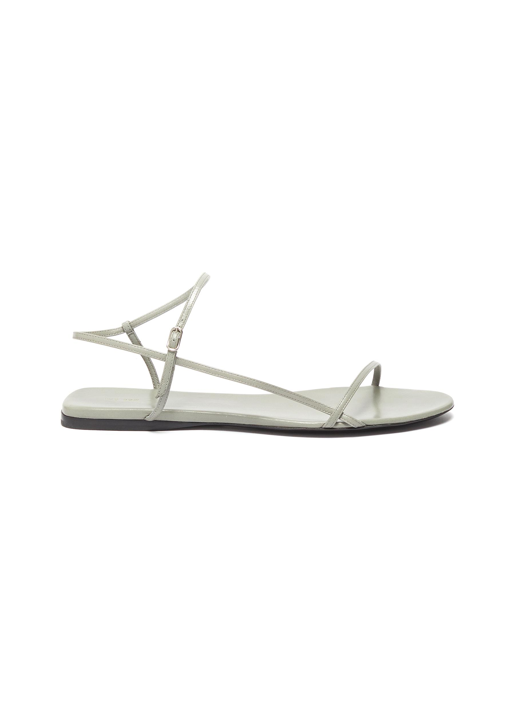 The Row Flats Bare strappy leather sandals