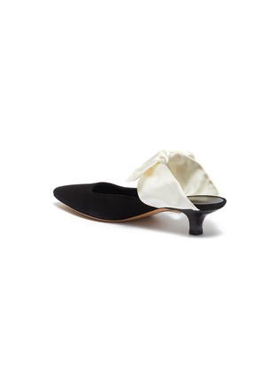 - THE ROW - 'Coco' satin bow tie suede mules