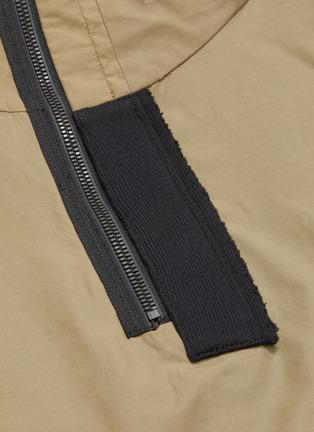 - INDICE STUDIO - Colourblock hooded half-zip anorak