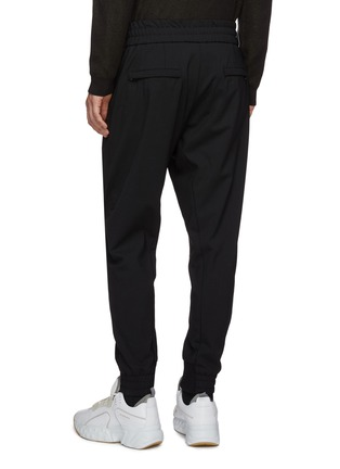 Back View - Click To Enlarge - WOOYOUNGMI - Zip pocket twill jogging pants