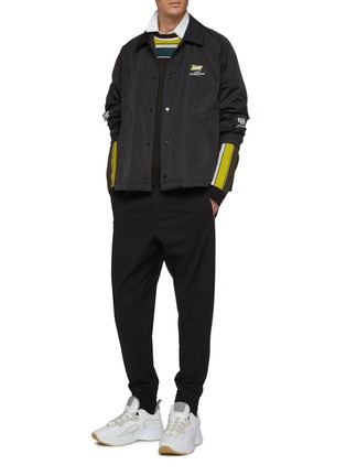 Figure View - Click To Enlarge - WOOYOUNGMI - Zip pocket twill jogging pants