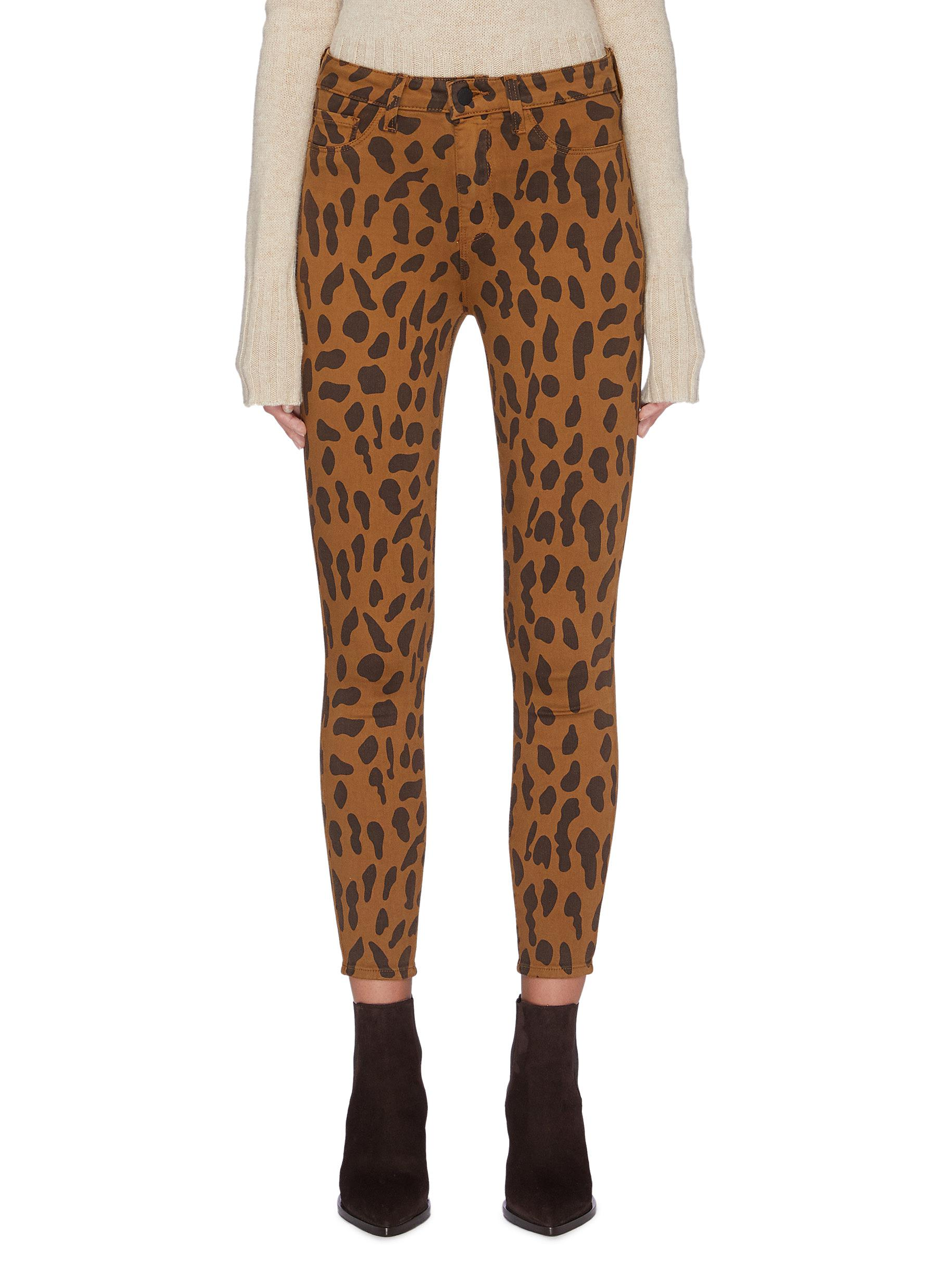 Margot leopard print skinny jeans by L'Agence
