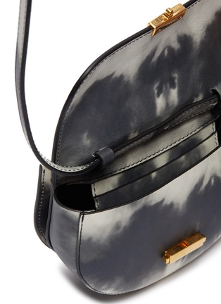 Detail View - Click To Enlarge - WANDLER - 'Anna' tie-dye print leather buckled bum bag