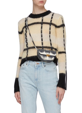Front View - Click To Enlarge - WANDLER - 'Anna' tie-dye print leather buckled bum bag