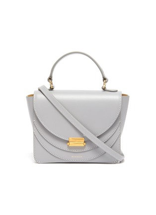 Main View - Click To Enlarge - WANDLER - 'Luna' mini leather top handle bag