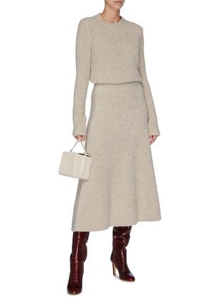 Figure View - Click To Enlarge - GABRIELA HEARST - 'Pablo' cashmere-silk bouclé midi skirt