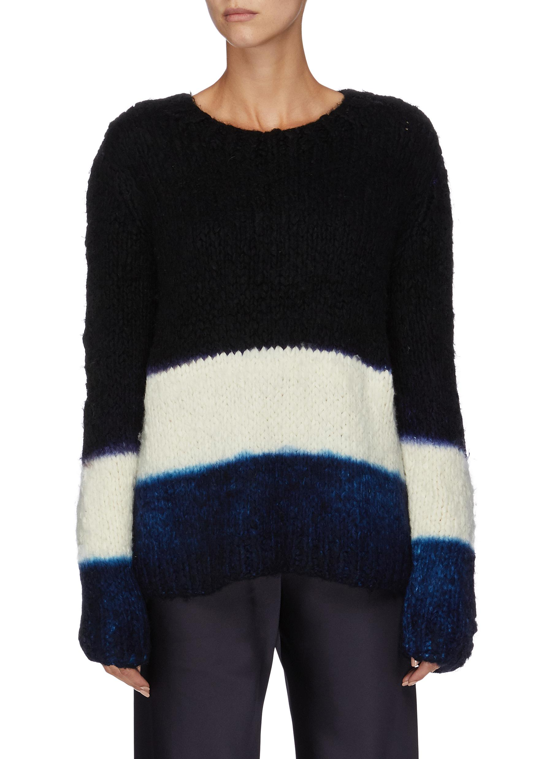Lawrence dip dye cashmere sweater by Gabriela Hearst
