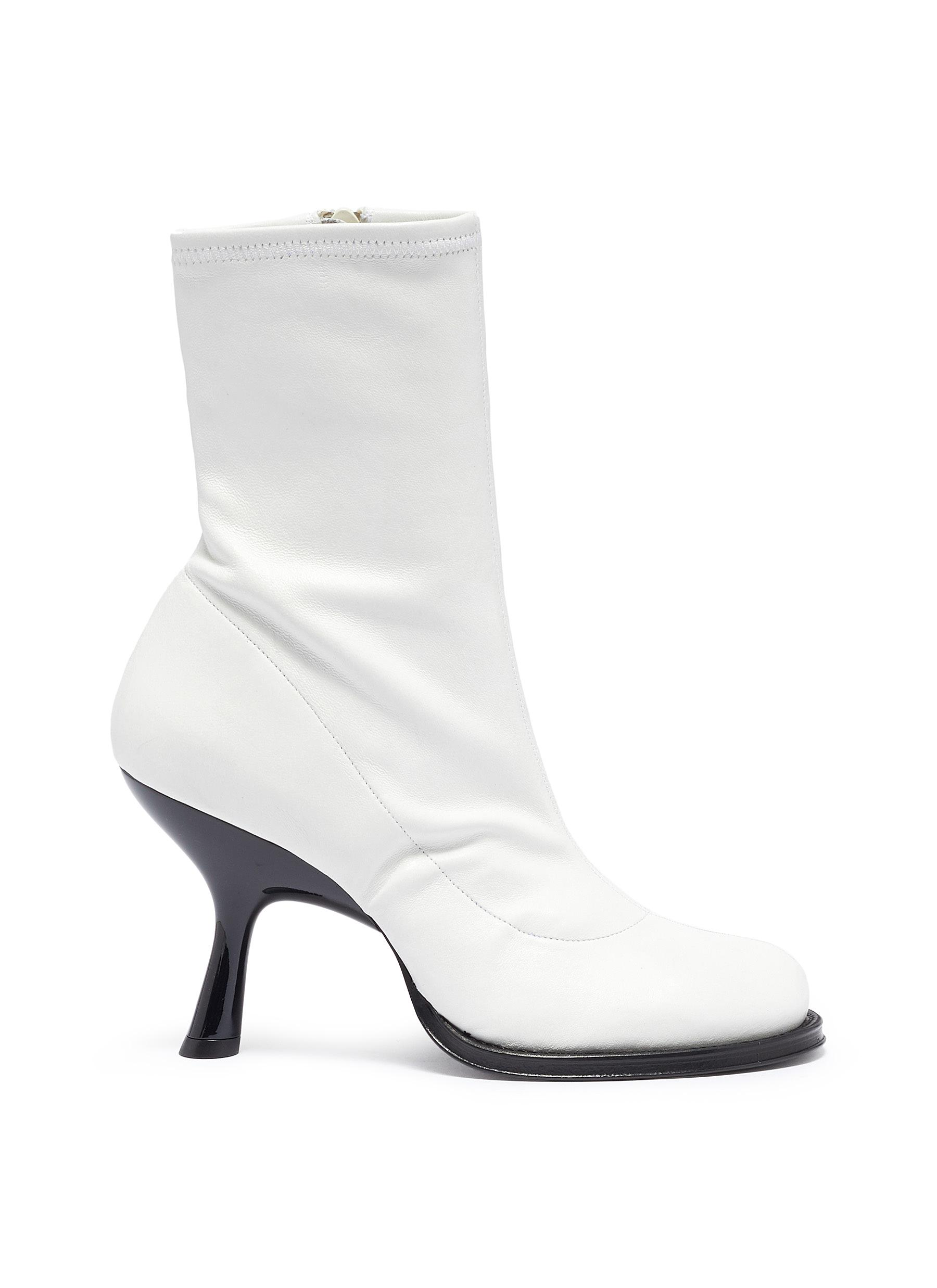 Bootie 90 sculptural heel leather ankle boots by Simon Miller